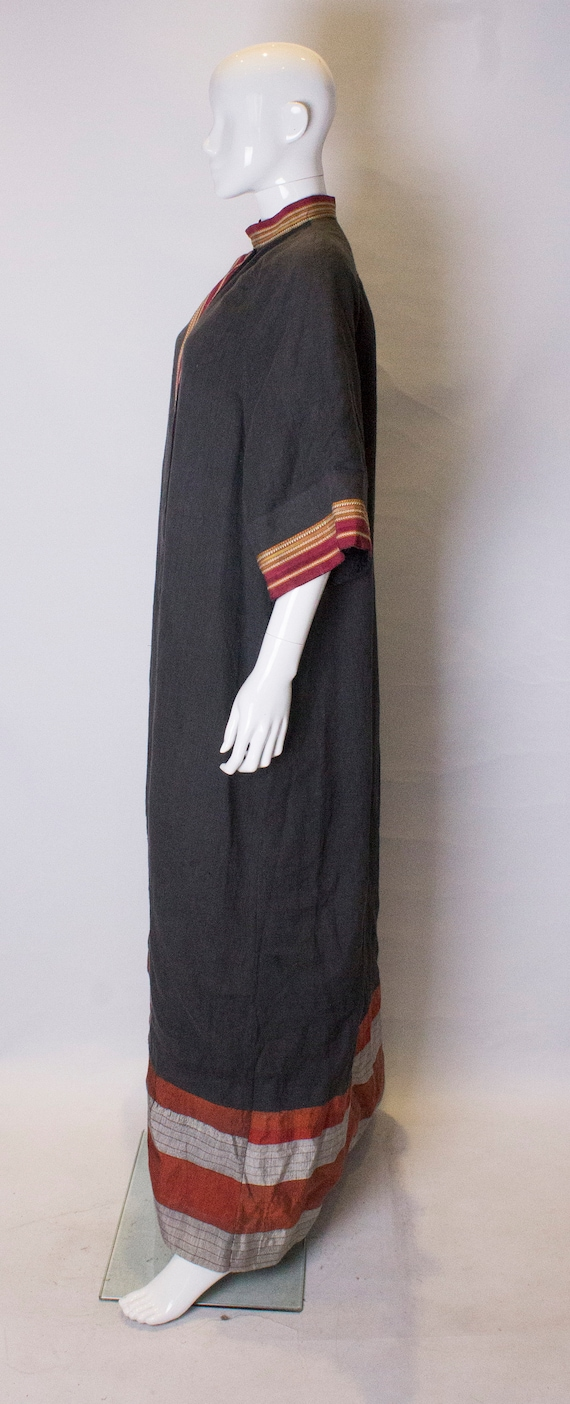 A Thea porter floor length jacket in black and st… - image 5