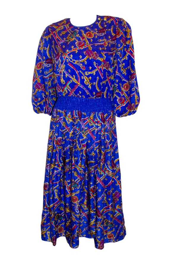 Vintage Diane Freis Silk Dress