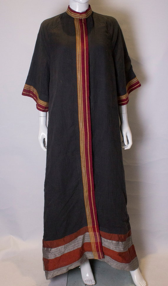 A Thea porter floor length jacket in black and st… - image 2
