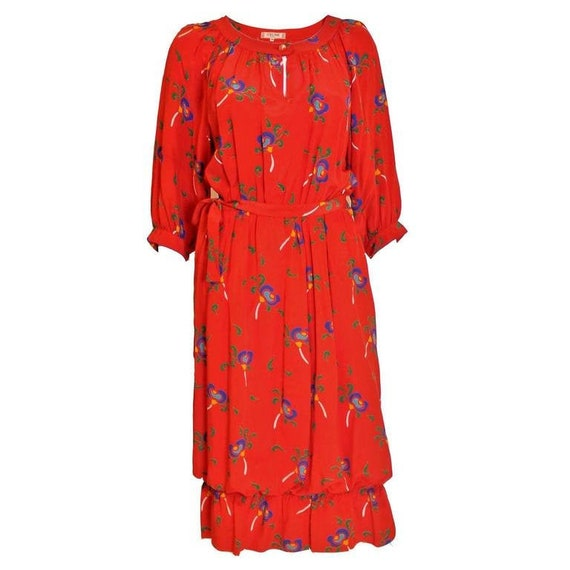 A vintage 1970s Celine Silk Dress