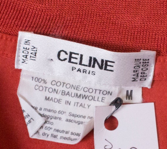 A Vintage 1990s orange Celine Polo Shirt - image 9