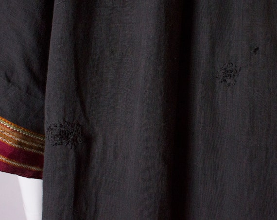 A Thea porter floor length jacket in black and st… - image 7