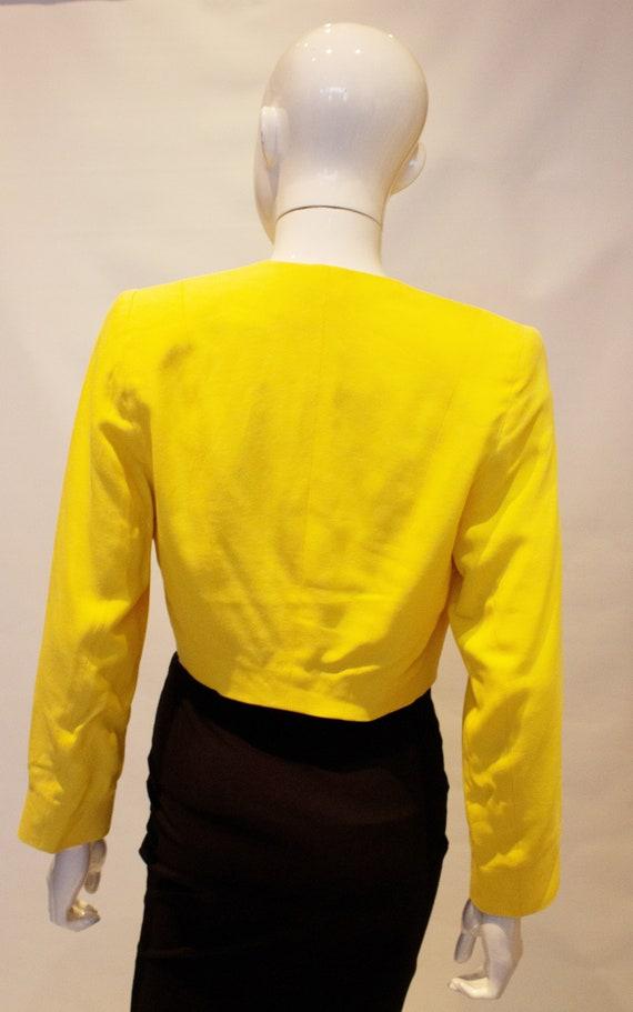Vintage Escada Yellow Crop Bolero - image 3