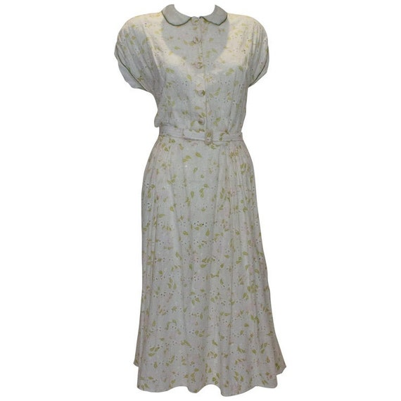 A Vintage 1950s Summer Cotton Dress by Nelly Don