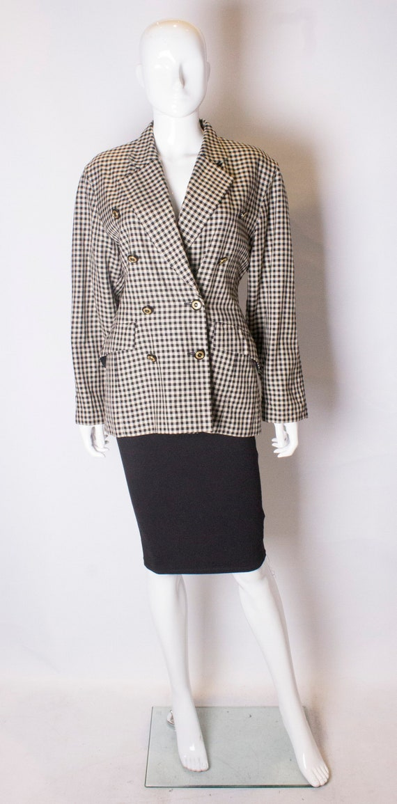 A Vintage 1980s check black and white Laurel Jacke