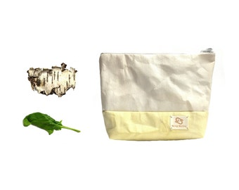 """Cosmetic bag """"Ilse"""" organic made of washable paper dyed with plant material * vegan * individual * exceptional"""
