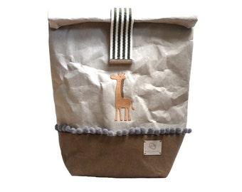 """Children's backpack """"Simba"""" made of washable paper * vegan * individual * sustainable"""