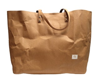 """Beach bag """"Greta"""" made of washable paper * Weekender * re-old * XL-Shopper"""