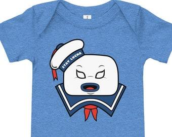 e8b90e7fe90 Ghostbusters - Stay Puft Marshmallow Man - Lucha Mask - Luchapop - 1980s  -Unisex Baby Bodysuits