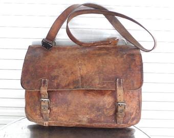 WW2 Vintage Swiss Army Vintage Leather Bag Messenger Swiss Leather Saddle  Bag Leder Satteltasche Schweizer Armee Suisse Selle Sac en Cuir 5d6a1aef7ca
