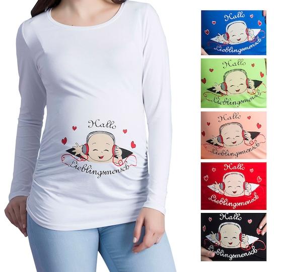 Umstandsmode Schwangerschafts-Mutterschaft/_Sweatshirt Tshirt Basic Langarm MMC