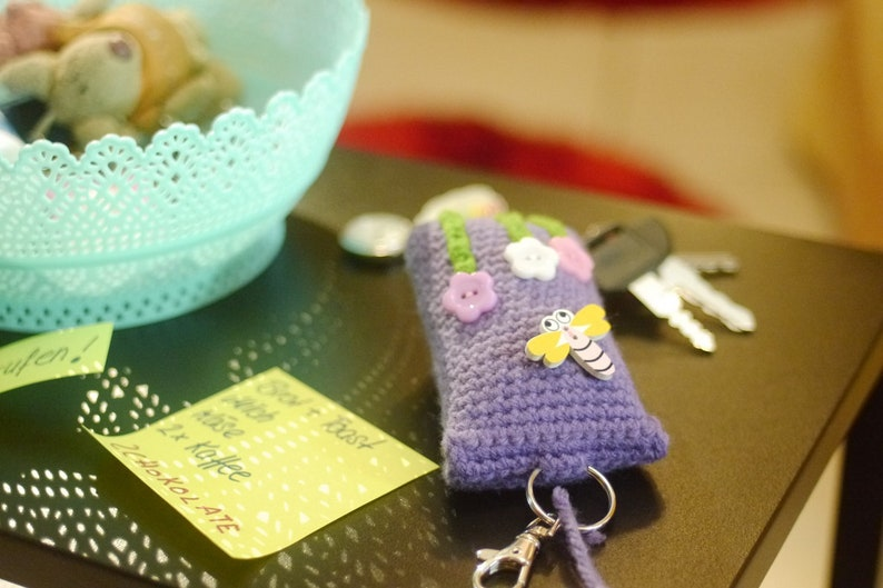 Small Keyring with Shopping Bag and Shopping Cart chip for Bag