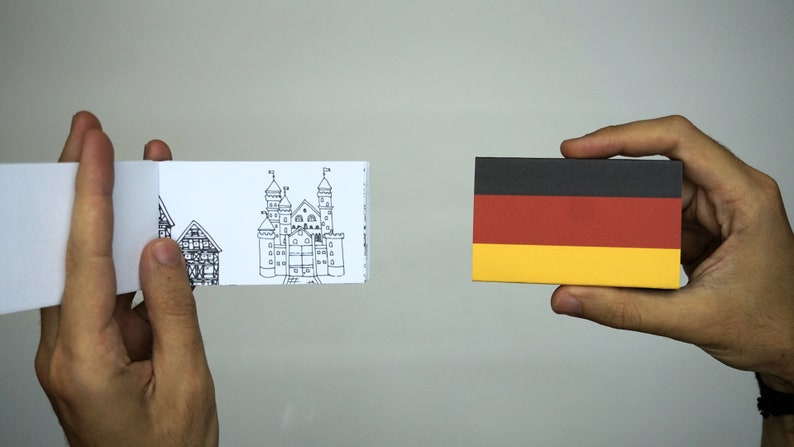 Germany Coloring Flip Book - FREE SHIPPING