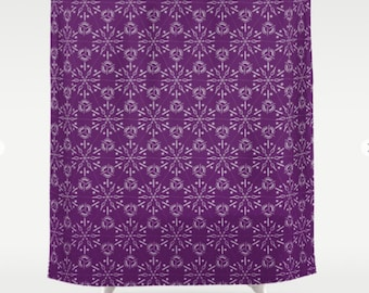 Purple Patterned Shower Curtain Hexagonal Pattern Wine Colored Bathroom Decor Bold Bathmat And Combo FREE SHIPPING USA