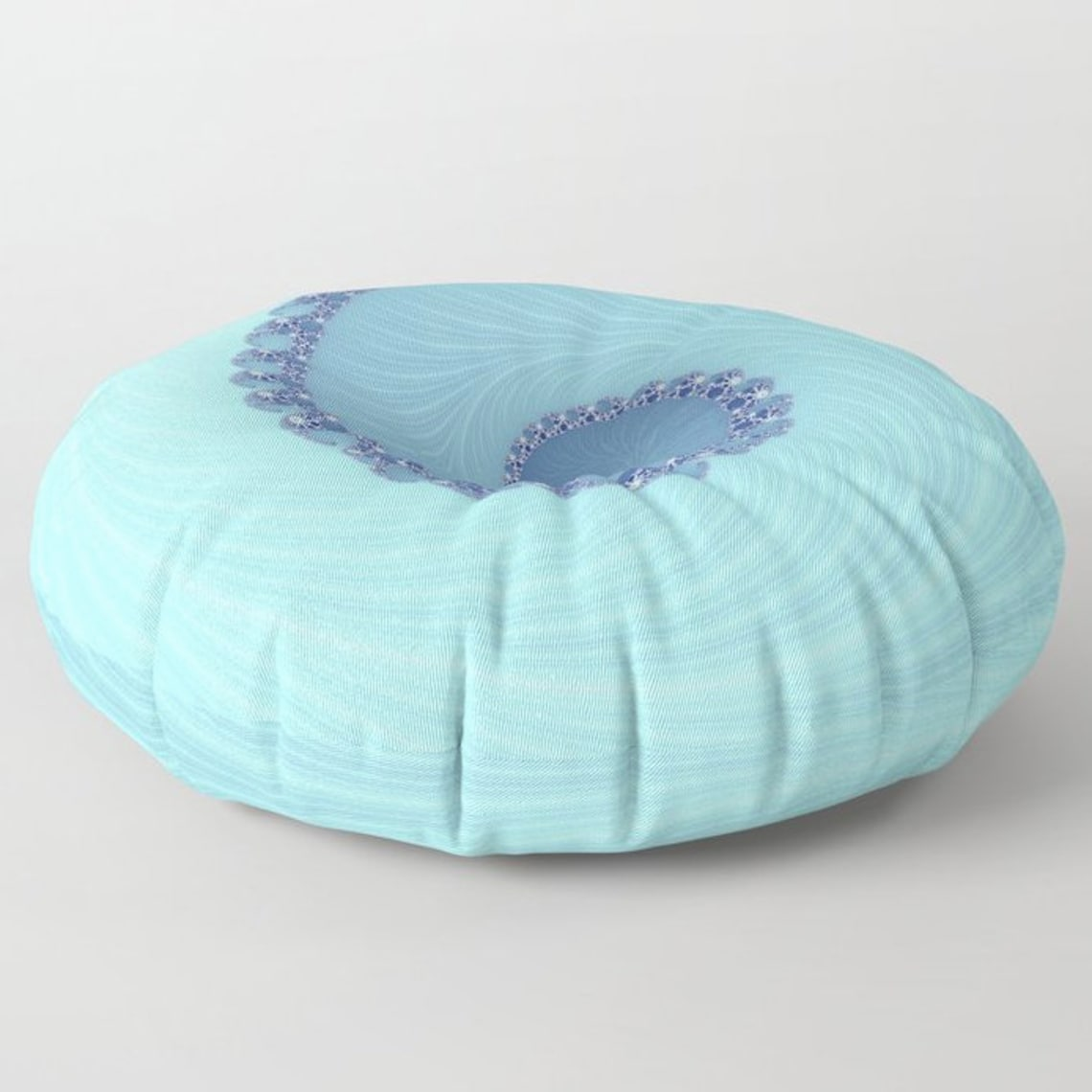 Baby Blue Floor Pillow | Infinity Spiral | Round or Square