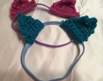 Hand Knit Boho Bracelet Yarn Sparkle Cuff Bangles Jewelry Hippie Bohemian Gypsy Arm Hand Warmer FUSCHIA LILAC 2 Pack