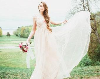 4325d6baf6c8 Cherry blossom wedding dress | Etsy