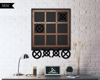 a7d5aa90e6 Tic Tac Toe Metal Wall Decor | Xox Wooden Wall Game Deco, Office Home Decor,  Housewarming Gift