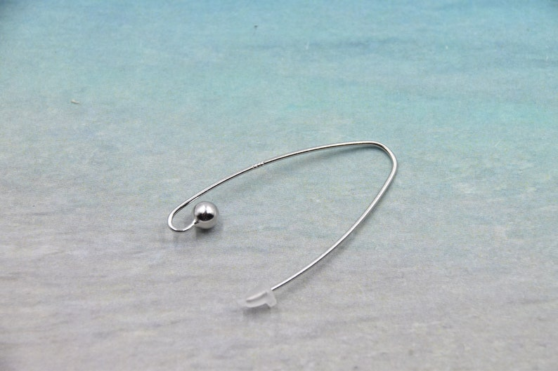 Trendy earring hooks batch available - Make your choice! 925 sterling silver 2 and 4 hooks