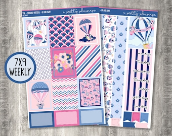 """Weekly Sticker Kit #491 - """"Up And Away"""" - Weekly Kit - Standard Vertical - 7x9 - A5 Wide - Life Planner - #491"""