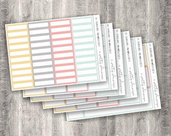 Colorful Boxes - Pink Umbrella - Planner Stickers - Kiss Cut Stickers - Spring - Pastel - Yellow - Colorful Boxes - Choose From 6 Sizes
