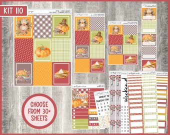 Weekly Sticker Kit #110 - Standard Vertical - 7x9 - A5 - B6 - Mini - Weeks - TPC - Penny Pages - A&N - Life Planner - KIT110