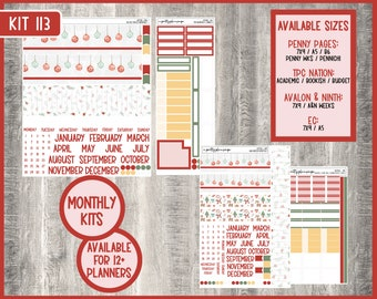 Monthly Kit #113 - 7x9 - A5 - B6 - EC Life Planner - TPC Nation - Penny Pages - Avalon & Ninth - Pennichi - A and N Weeks -  KIT113