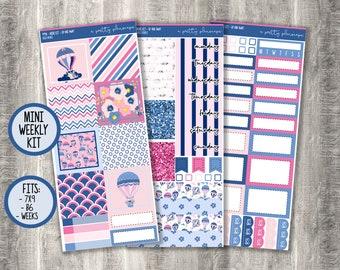 "Weekly Sticker Kit - ""Up And Away"" - B6 - A&N Weeks - PP Weeks - 7x9 - Mini Kit - #494"