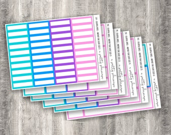 Colorful Boxes - Another Year Older - Planner Stickers - Kiss Cut Stickers - Pink - Purple - Blue - Colorful Boxes - Choose From 6 Sizes