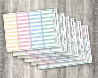 Colorful Boxes - Easter Meadow - Planner Stickers - Kiss Cut Stickers - Pastel - Spring - Colorful Boxes - Choose From 6 Sizes