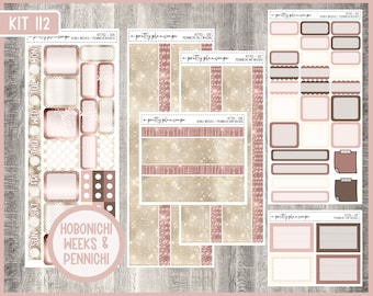 Hobonichi Weeks / Pennichi Weekly Sticker Kit #112 - Penny Pages - Hobo Weeks - Planner Stickers - KIT112