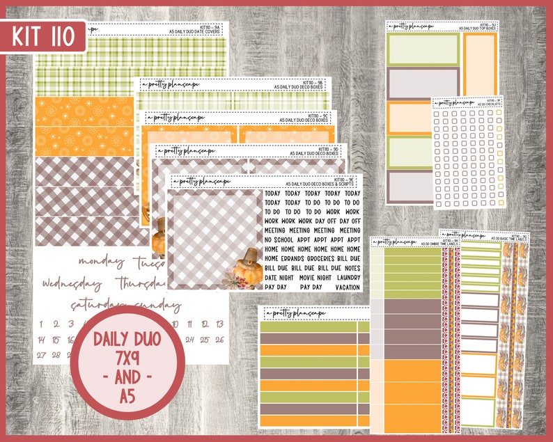Daily Duo Weekly Kit 110  EC  7x9  A5  Life Planner  image 0