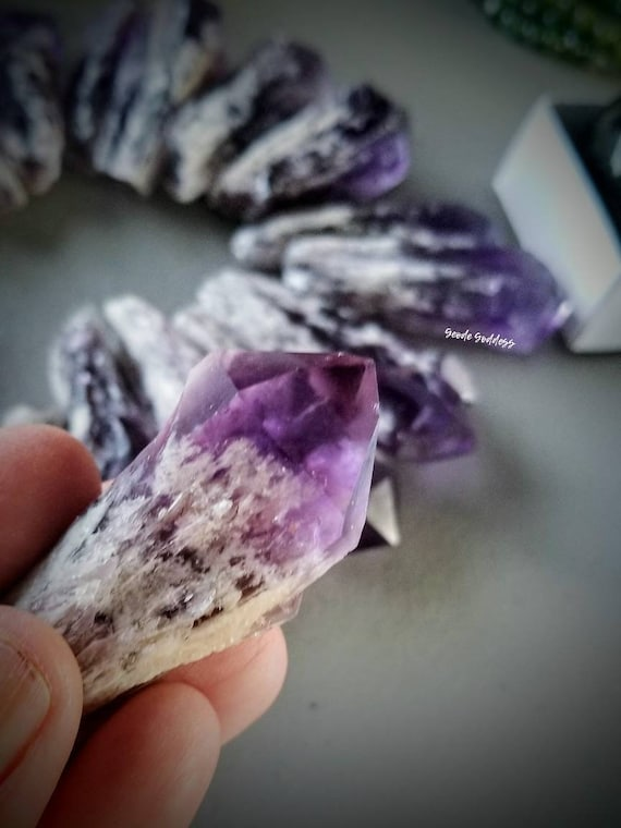 Elestial Amethyst Points