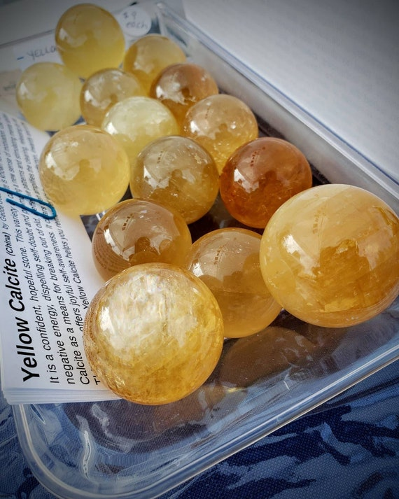 Yellow Calcite Spheres