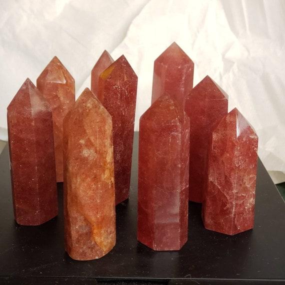 Strawberry Quartz Obelisks