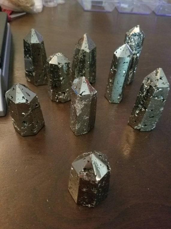 Pyrite Obelisks