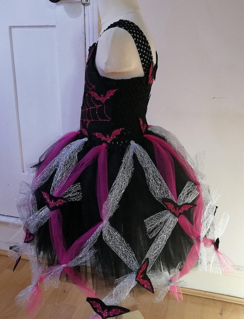 Photo Shoot Glitter Web Vampirina Inspired Tutu Dress Glitter Bats Birthdays Perfect for Halloween Tutu Dress Tulle Dress Parties