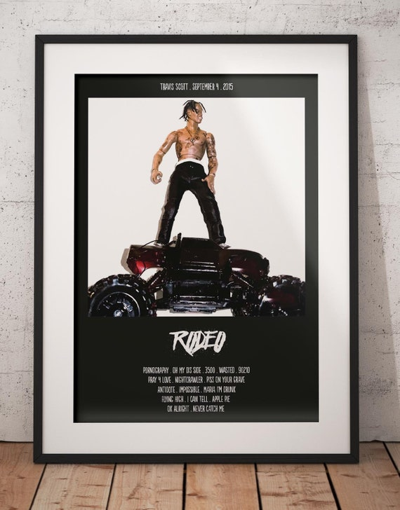 Travis Scott Rodeo Hip Hop Trap Music 2015 Album Cover Silk Poster 20×20 24×24 Art