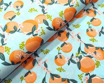 Cotton fabric orange tree