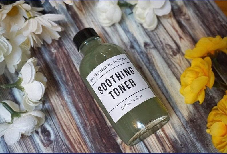 Soothing Toner 4oz Wallflower Wildflower Vegan Cruelty Free image 0