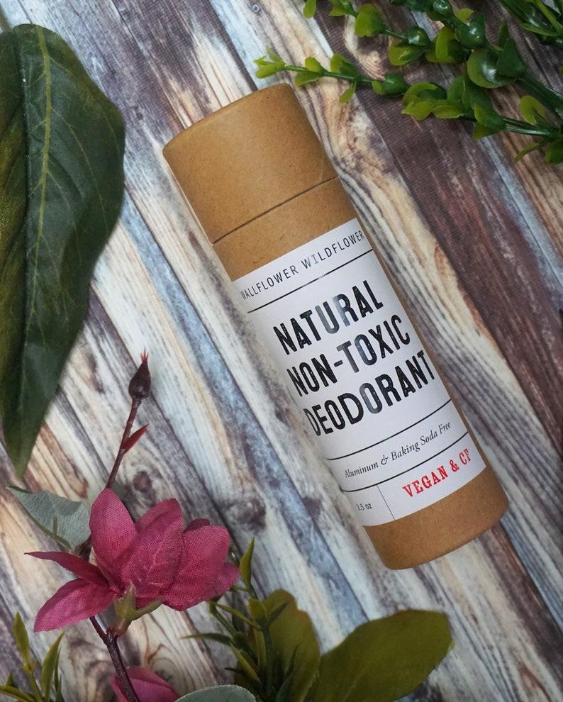 Unscented All Natural Deodorant  Aluminum Free Vegan image 0