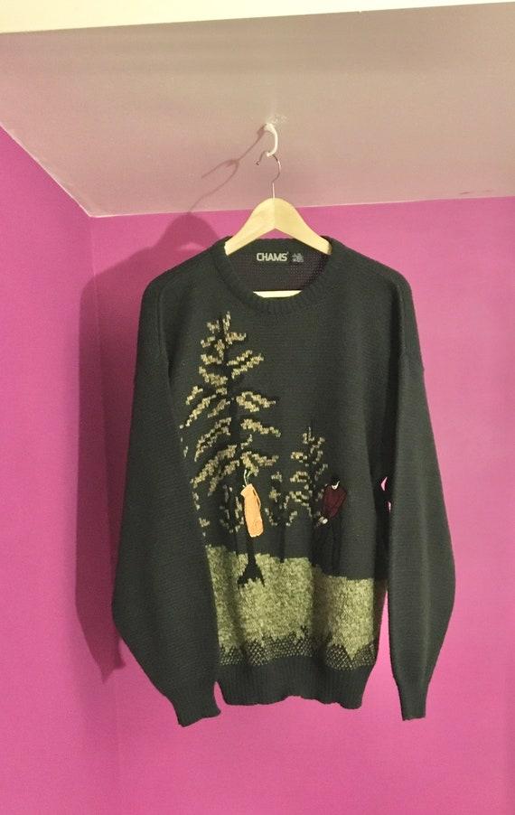 Chams L/G Vintage Acrylic Sweater - image 2