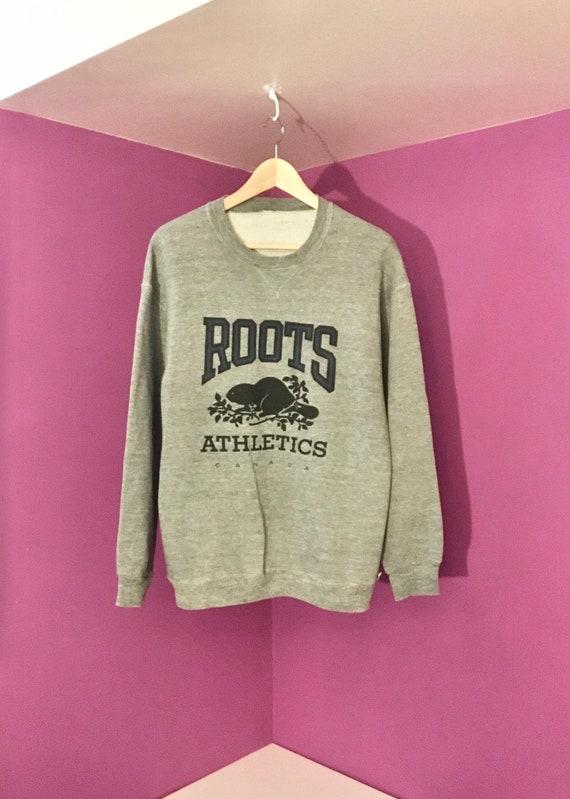 Roots Athletics Grey Crewneck Sweater