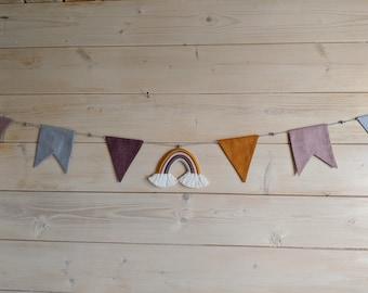 Pennant necklace *Rainbow*Pennant*Children's room decoration*Decoration*Garland*Rainbow*Baby room*Baby shower