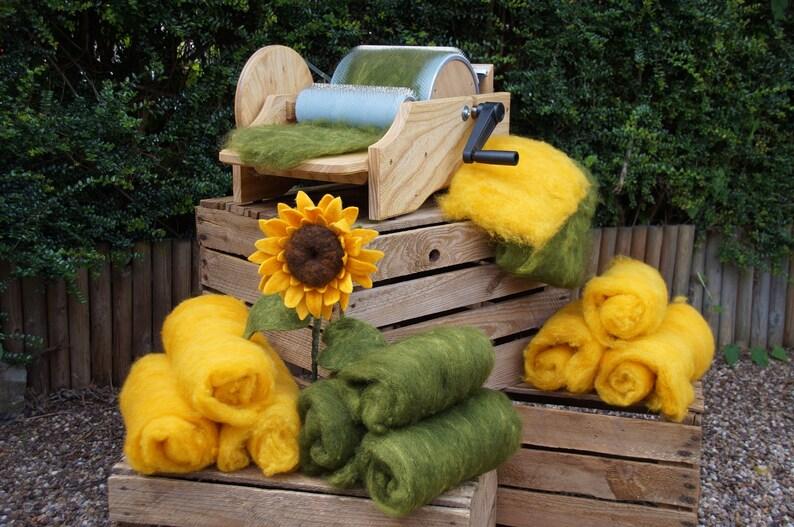 Sunflower Needle Felting Kit Templates /& Tutorial