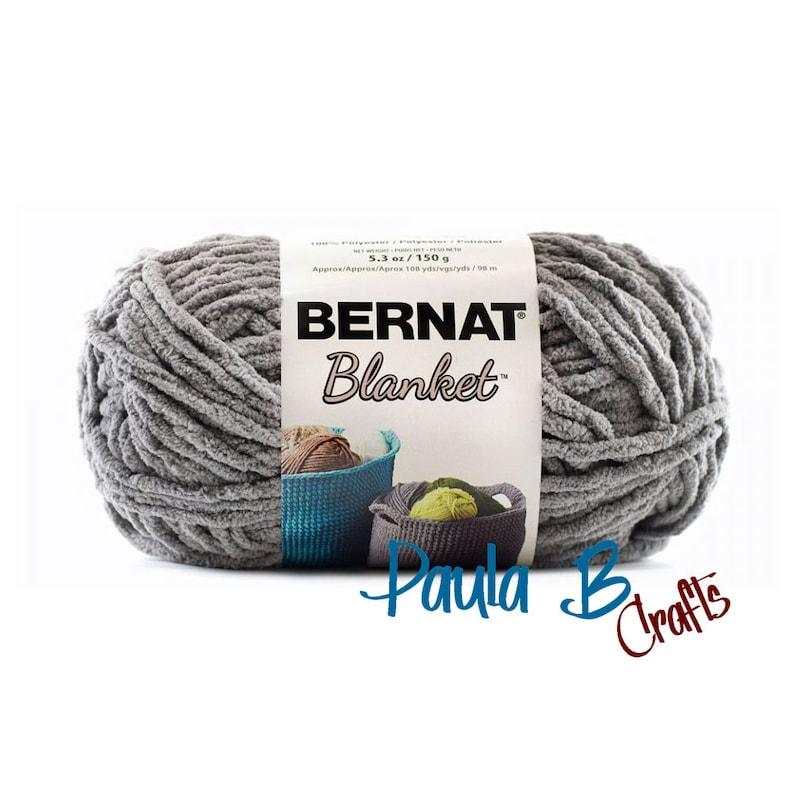 DARK GREY  Bernat Blanket Yarn  5.3 oz  150 grams  108 yards