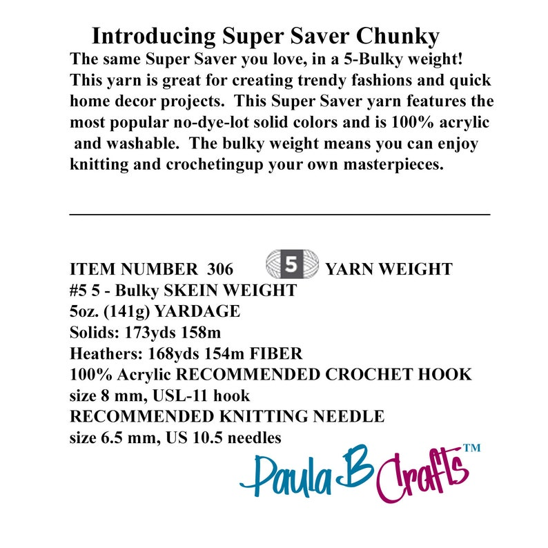 MINTY  Red Heart Super Saver Chunky Yarn   5 oz   141 grams   168 yards