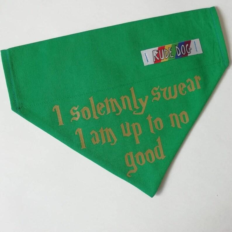 Over the Collar I solemnly swear I am up to no good Bandana