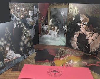 Phantom of the Opera / box / set / blank / greeting / cards / Phantom / geeky / gothic / goth / musical / opera / fantasy / romance /fan art