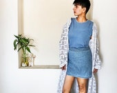 Crochet cardigan crochet long coat granny crochet geometric pattern white long crochet robe